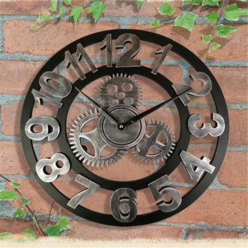 Horloge Murale Industrielle Mécanique Ancestral