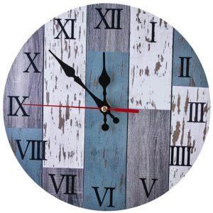 Horloge Murale Industrielle Bois