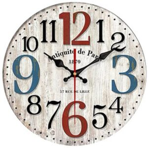 Horloge Murale Industrielle Antiquité de Paris
