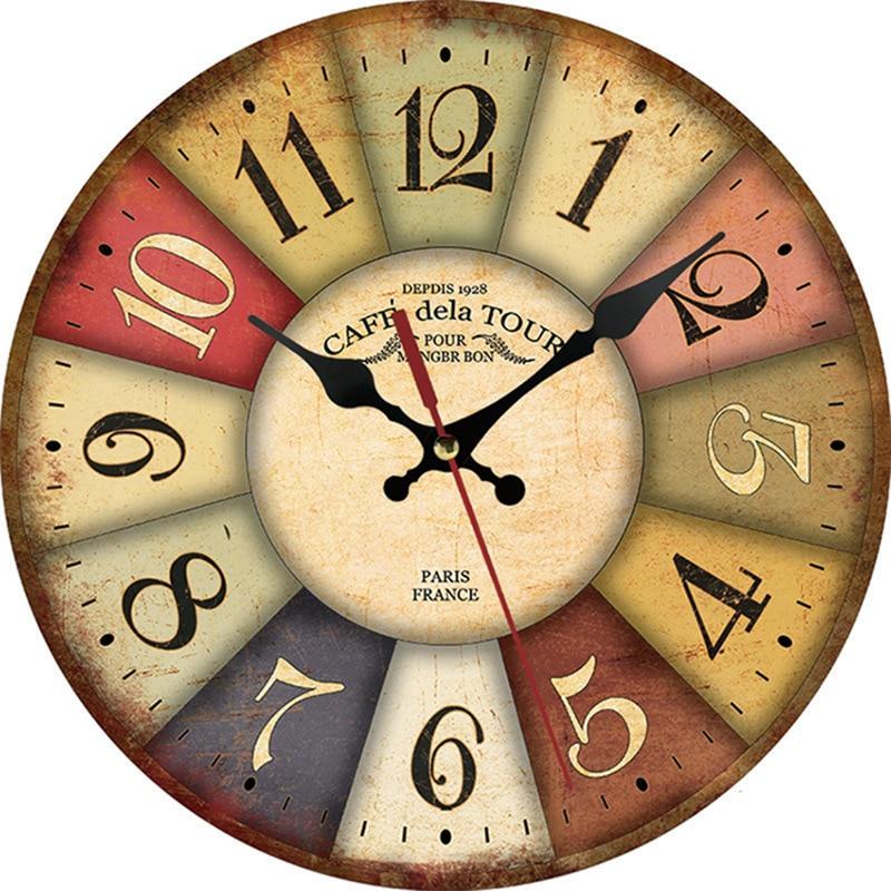 Horloge Murale Industrielle Café de la Tour