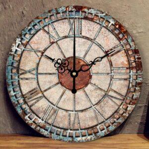 Horloge Industrielle Rouille