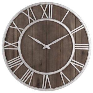 Horloge Murale Industrielle Marron