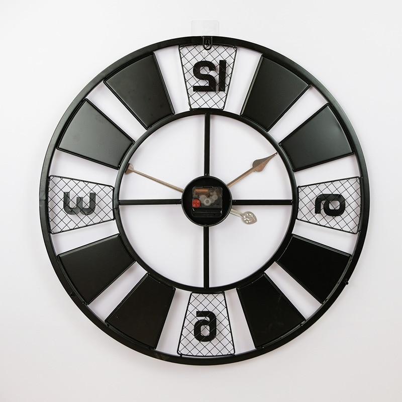 Horloge Murale Industrielle Roue