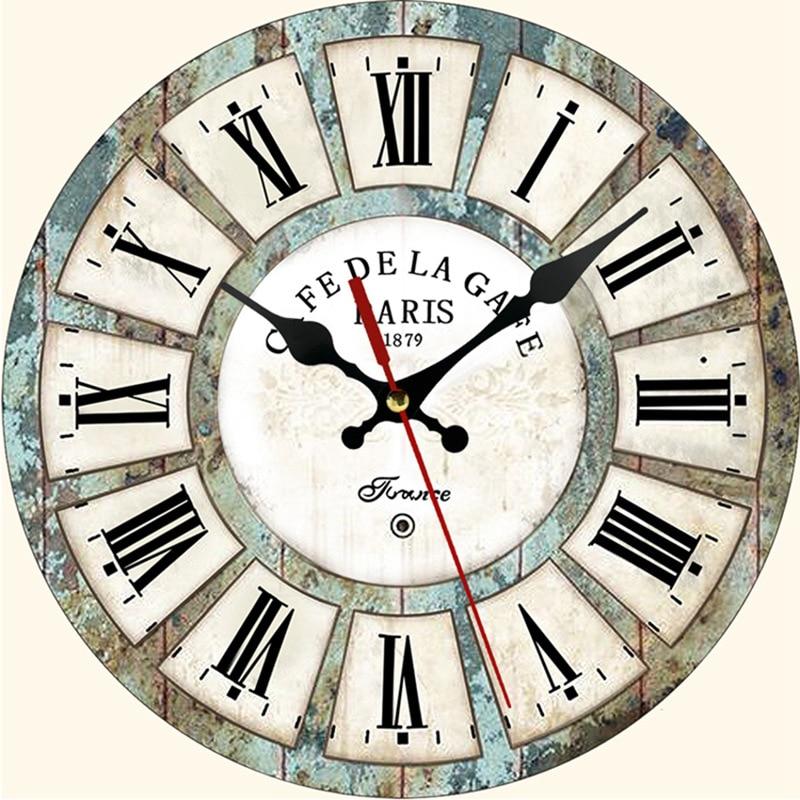 Horloge Murale Industrielle Café de la Gare