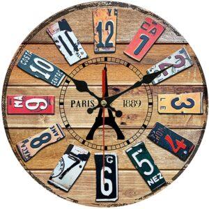 Horloge Murale Industrielle Paris 1889