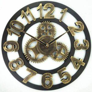 Horloge Murale Industrielle Engrenage Robuste