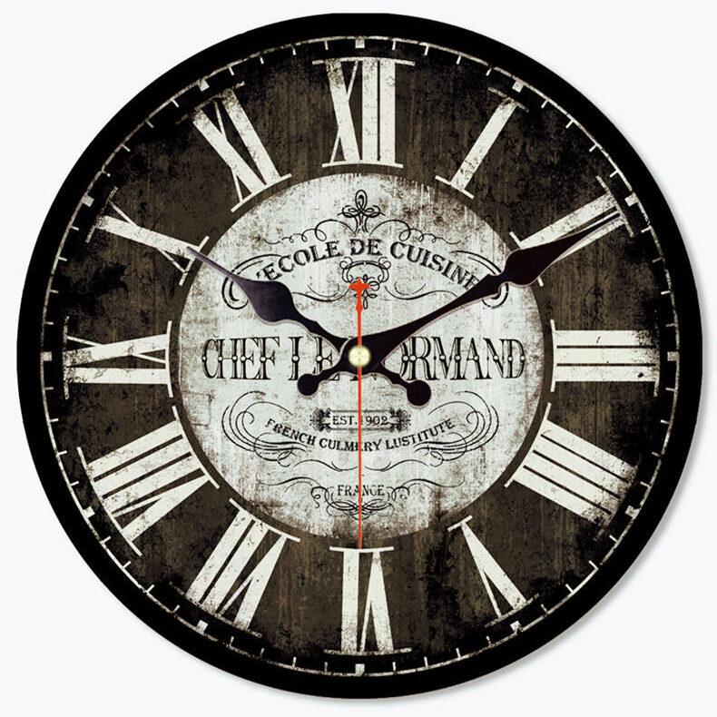 Horloge Murale Industrielle Chef Le Normand